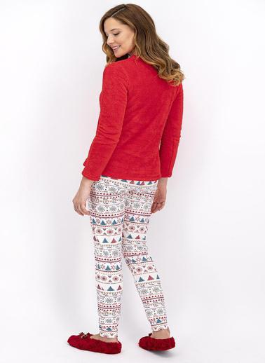 Arnetta Pijama Takım Kırmızı